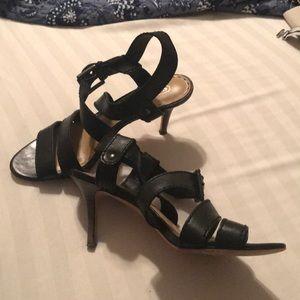 Black Coach strappy sandal. Size 8
